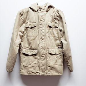 Tan Hooded Jacket Boys XL